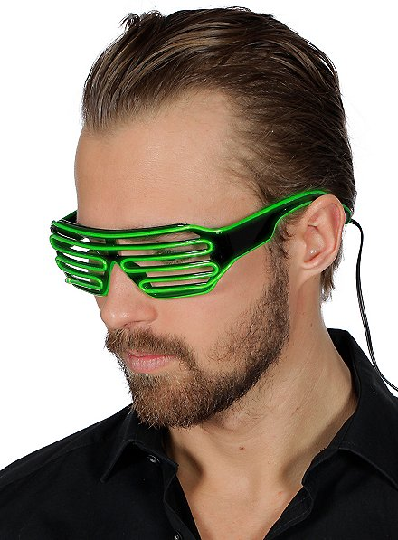 LED Brille grün