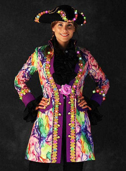 LED coat for ladies colorful