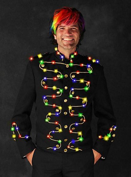 LED Jacke mit Goldborte für Herren