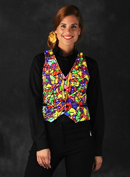 LED vest for ladies colorful