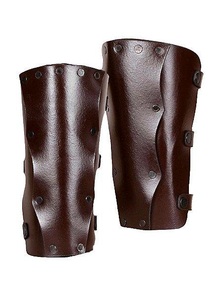 Leder-Beinschienen Meuchelmörder braun