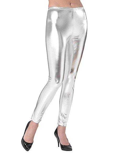 Leggings wetlook silver