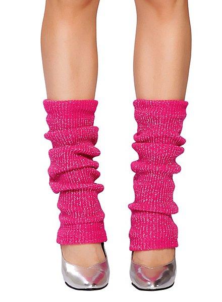 Legwarmer pink glitter