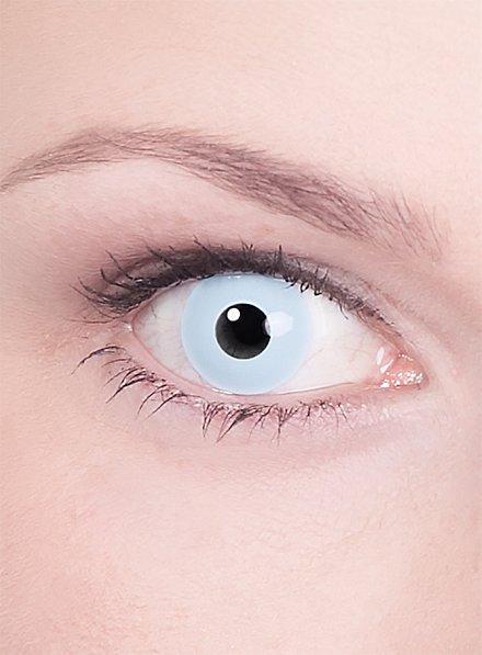 Lentille de contact correctrice bleu clair