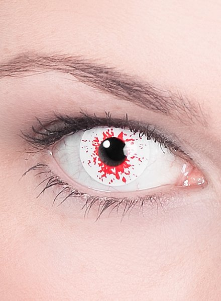 Lentille de contact correctrice infecté