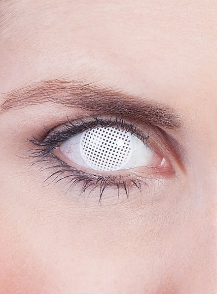 Lentille de contact correctrice quadrillage blanc