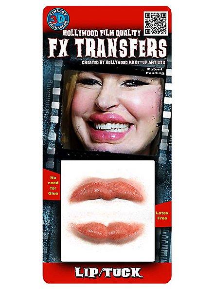 Lèvres botoxées 3D FX Transfers