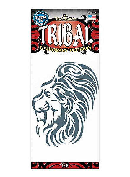 Löwe Tribal Klebe-Tattoo