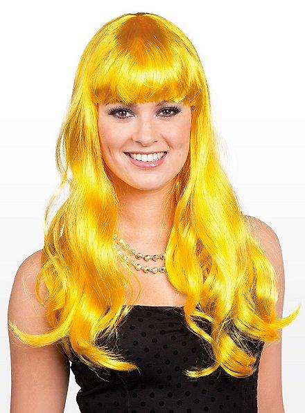 Long Hair lemon Wig