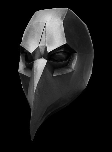 Low Poly Krähe Maske