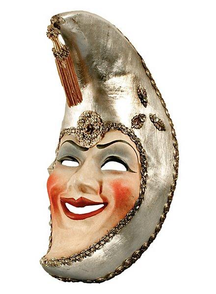 Luna Franco argento - Venezianische Maske