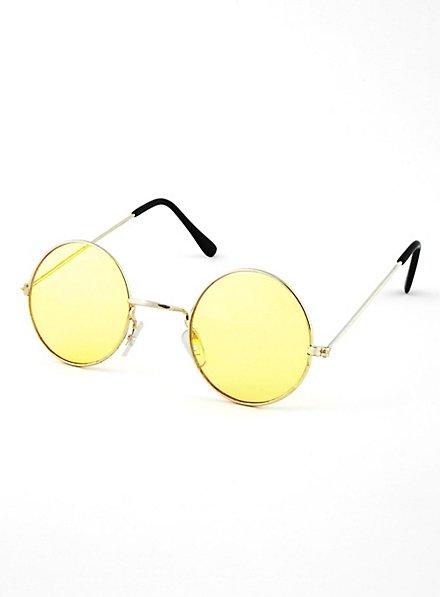 Lunettes de hippie jaunes
