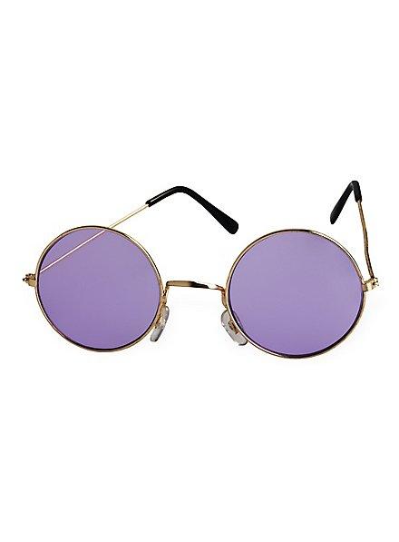 Lunettes de hippie violettes