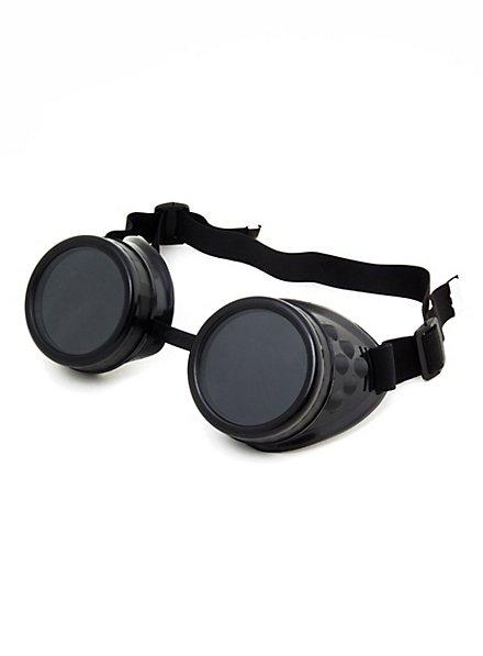 Lunettes de soudeur steampunk noires