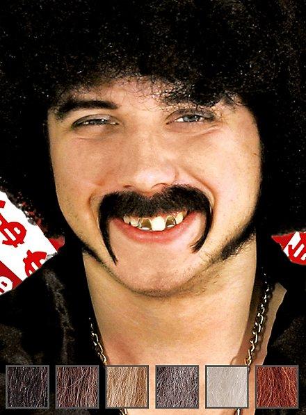 Mac Moustache professionnelle en poils véritables