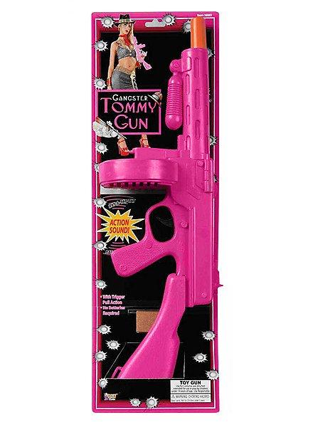 Mafia Machine Gun pink Toy Weapon with Sound Effect