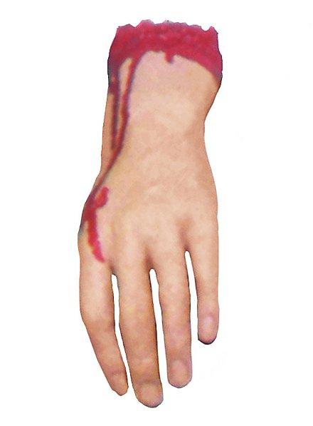 Main tranchée ensanglantée