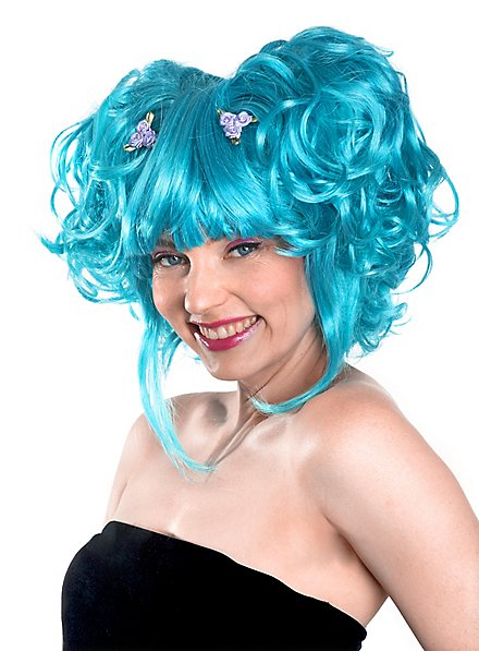 Manga bleu Perruque