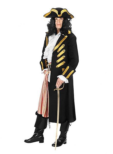 Manteau de pirate noir Deluxe