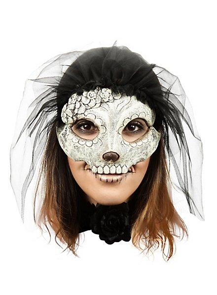 Masque de Catrina à voile noir
