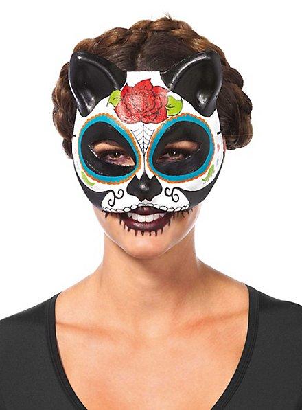 Masque de chat Día de los Muertos