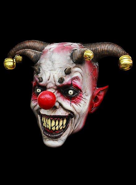 Masque de clown cornu