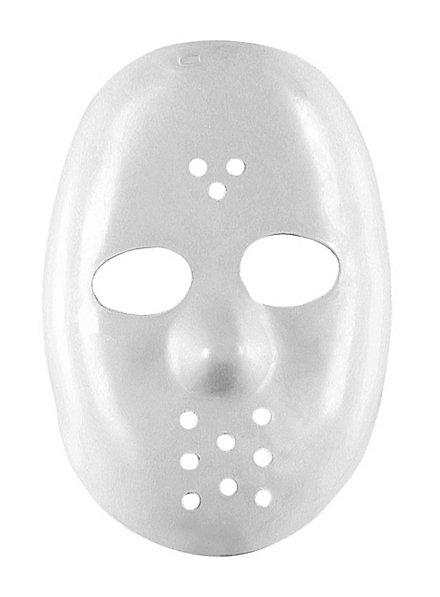 Masque de hockey blanc