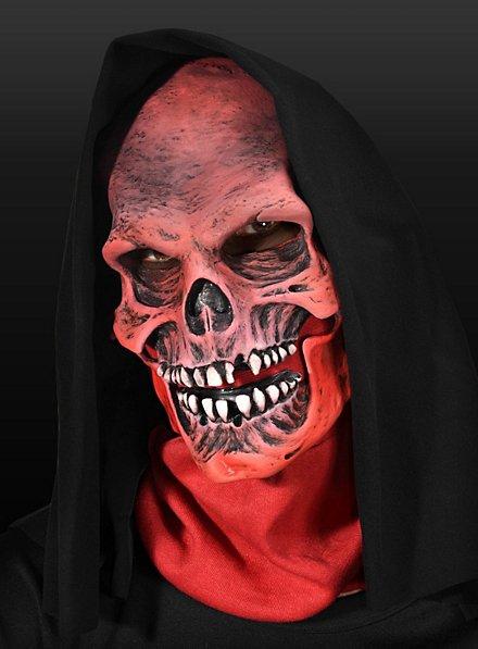 Masque de la mort rouge en latex