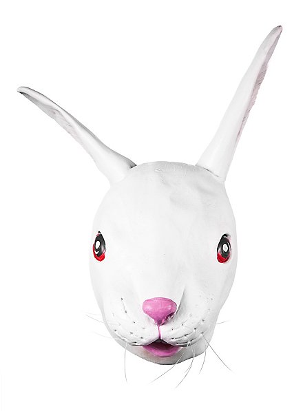 Masque de lapin blanc en latex