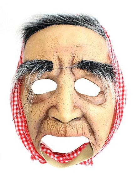 Masque de mamie âgée sans menton