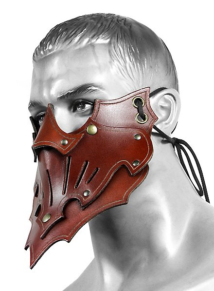 Masque en cuir - Assassin de l'ombre (marron)