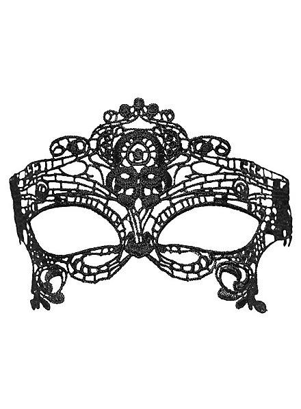 Masque en dentelle diadème noir