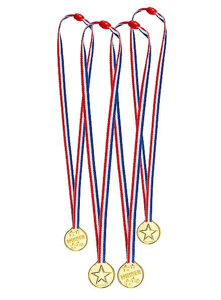 Medaillen für Partyspiele 4 Stück