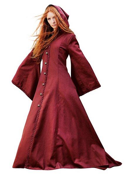 Medieval Hooded Coat crimson