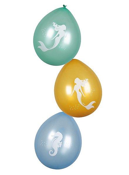 Meerjungfrau Luftballons 6 Stück