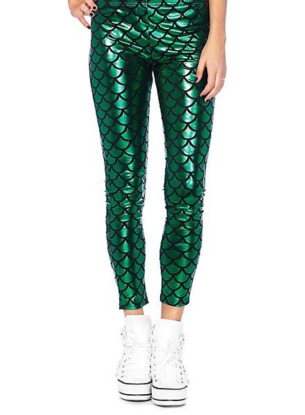 Mermaid leggings green