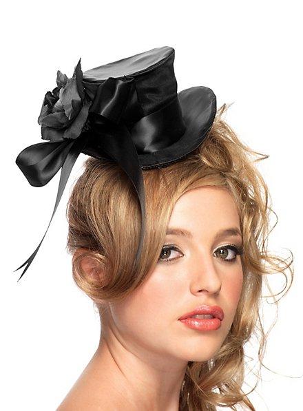 Mini Top Hat Roses black