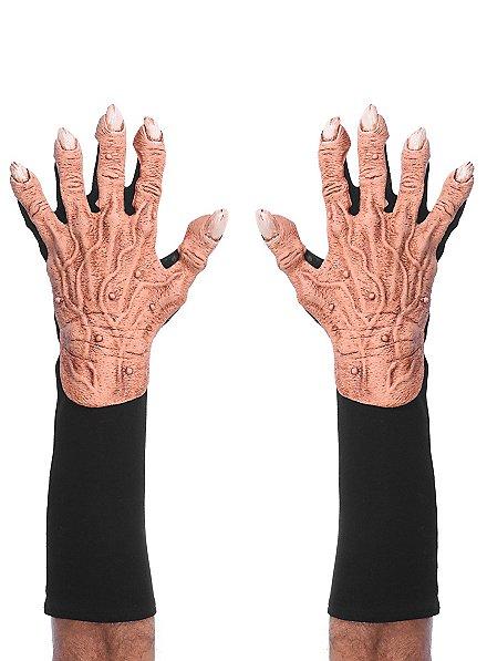 Monsterhände Handschuhe hautfarben