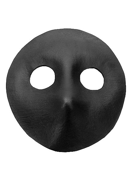 Moretta black Venetian Leather Mask