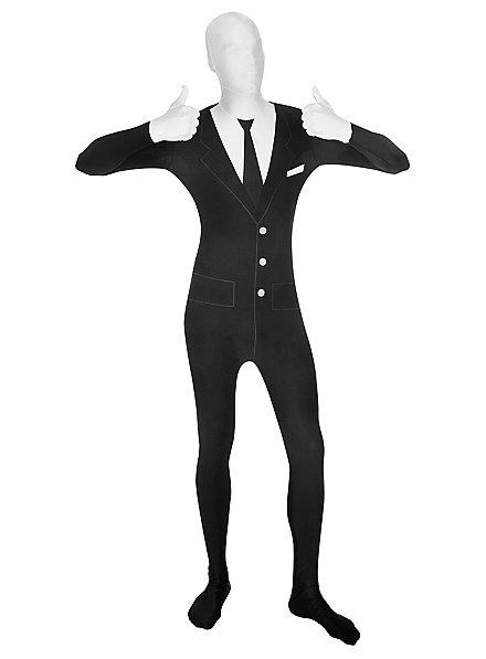 Morphsuit Anzug mit Krawatte Ganzkörperkostüm