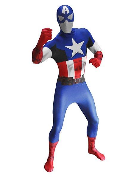 Morphsuit Captain America Ganzkörperkostüm