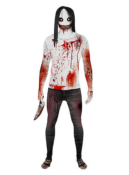 Morphsuit Jeff the Killer Ganzkörperkostüm