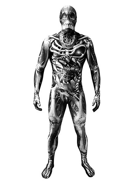 Morphsuit skeleton monster full-body costume