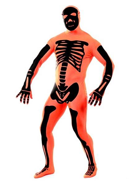 Morphsuit squelette orange Déguisement intégral