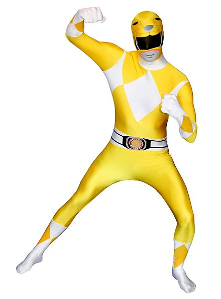 Morphsuit Yellow Power Ranger Full Body Costume