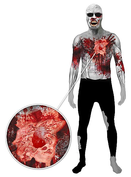 Morphsuit Zombie mit Herzschlag Ganzkörperkostüm