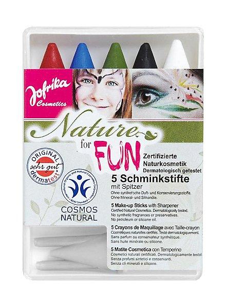 Natural cosmetics make-up pencils five colours