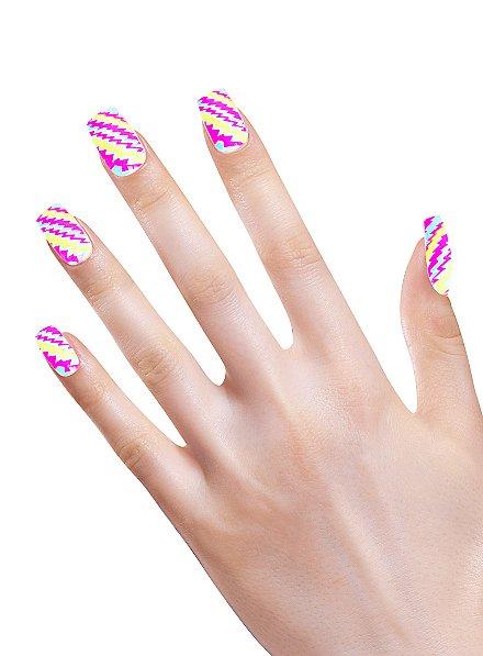 Neon Fingernails Stripes