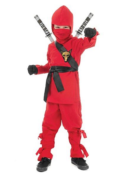 Ninja fighter kid's costume red
