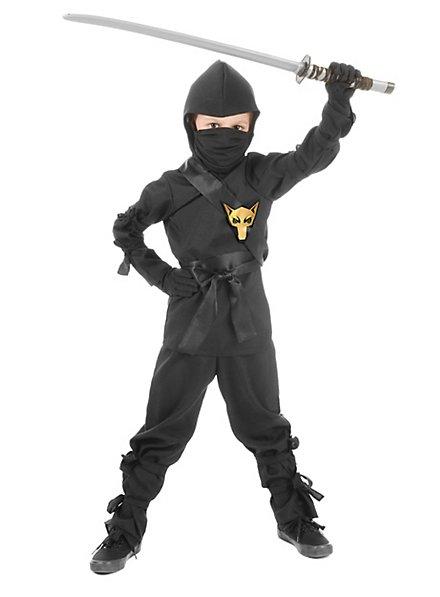 Ninja Kämpfer Kinderkostüm schwarz